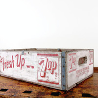 Vintage 7up Crate, 7up Box, Wood Crate, Wooden Crate, Watertown, Wisconsin