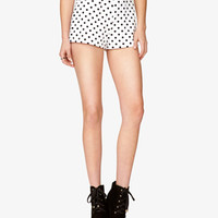 High-Waisted Polka Dot Shorts
