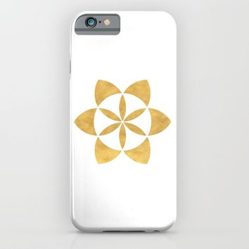 SEED OF LIFE minimal sacred geometry iPhone & iPod Case by deificus Art