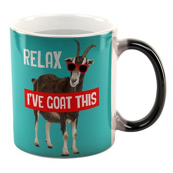 Relax I've Goat Got This All Over Heat Changing Coffee Mug
