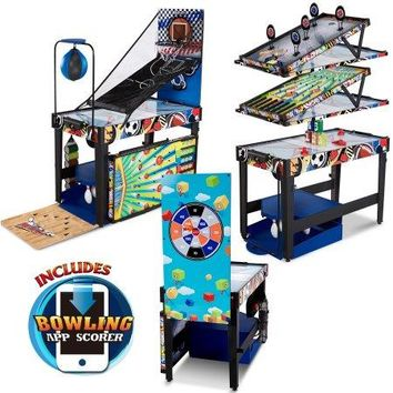 12-in-1 Hockey, Basketball, Bowling, Billiard, Pool, Target Shooting Kids Game Room Game Table