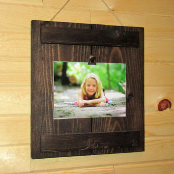 Dark Walnut Photo Clipboard, 4x6 or 5x7 picture frame
