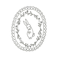 Hand Embroidery Pattern Bunny Rabbit Digital Downloadable