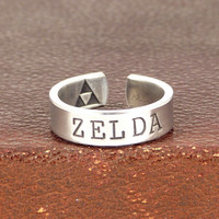 Zelda Ring - Triforce - Legend of Zelda - Aluminum Ring