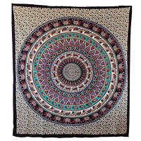 Handicrunch Special Hippy Mandala Bedspread or Tapestry, Home Decor Wall Hanging, Table Cloth Home Décor Bed Spread