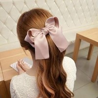 Towallmark(TM)1PC Beautiful Elegant Lady Multi Color Satin Ribbon Bow Hair Clips Barrette Ponytail Holder For Girls