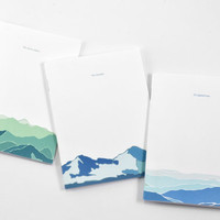 Mountain Journal Set of 3: Mountain Ranges Notebook Set