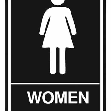 "Women's Room Sign, Ada Approved Braille 6"" X 9"""
