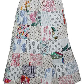 Women's Summer Skirt with Printed Vintage Patch Work Skirts
