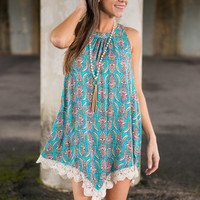 Bright Where You Belong Tunic, Turquoise