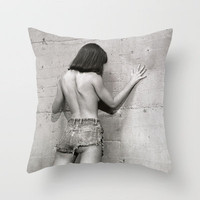 Wall flower girl Throw Pillow by Bruce Stanfield | Society6