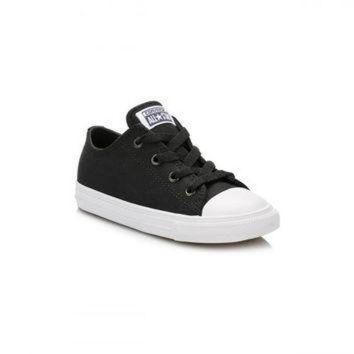 ICIK8NT converse all star chuck taylor ii infant black white ox trainers