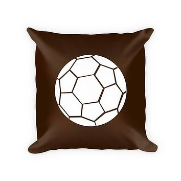 Kids Soccer Ball Cotton/Poly Throw Pillow