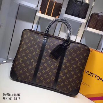Kuyou Lv Louis Vuitton Gb29714 M41125 Brown Fossil Mercer Nylon 41*31*7cm