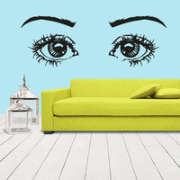 Wall Decal Vinyl Sticker eye eyes Girl Cartoon (z1278)