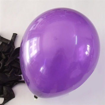 Latex Solid Balloons, 12-inch, 12-Piece, Purple