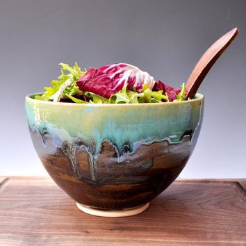 Noodle stoneware Serving Bowl Farmhouse Morning by OneClayBead