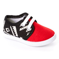Red Geometric Sneaker