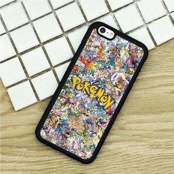 soft TPU Phone Cases For iPhone 6 6S 7 Plus 5 5S 5C SE 4 4S ipod touch 4 5 6 Cover Shell All s Logo CollageKawaii Pokemon go  AT_89_9