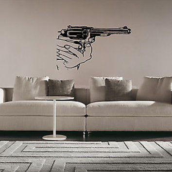 Colt Wall Sticker Decal Hand Gun Firearm Colt 1911 Gun Wall Art Decor 3816