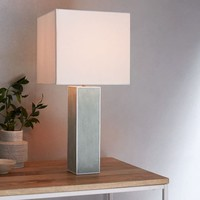 Faux Shagreen Table Lamp - Tall