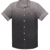 Modern Amusement Coal Short Sleeve Woven Shirt - Mens Shirt - Black -