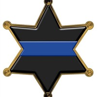 Thin Blue Line Sheriff 6 Point Star Reflective Decal
