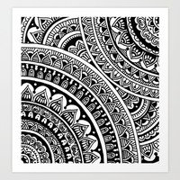 Black & White Boho Art Print by Sarah Oelerich