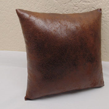 Thirteen Sizes available -  Distressed  Brown Faux Suede, Leather- Like Pillow Cover, Sofa Couch Pillow /Soft Leather Pillow cover,