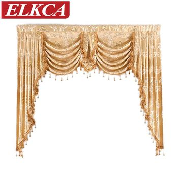 1 Piece Valance European Royal Luxury Valance Curtains for Living Room Window Curtains for Bedroom