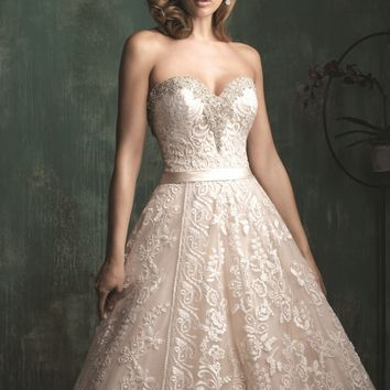 Swarovski Embellished Lace Ballgown by Allure Bridals Couture
