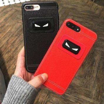 DCCKR2 Popular logo cortical little monster personality apple 8/ iphone 6/7plus mobile phone case couple cortical soft shell