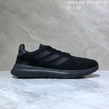 KUYOU A418 Adidas Tubular Defiant Portable Running Shoes Black