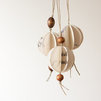 Trio of Mini Geometric Orb Ornaments