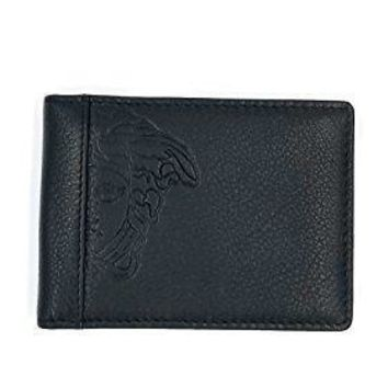 Men's Versace Classic Slim Medusa Leather Wallet With Box