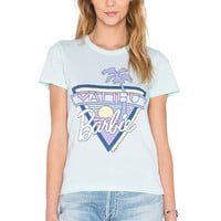 Junk Food Malibu Barbie Tee in Mist Blue
