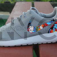 Superman Comic Book Nike Roshe Run Custom