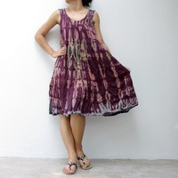 Trendy Scoop Neck Tie Dye Tank Dress | Handmadeministry - Clothing on ArtFire