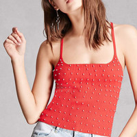 Studded Ribbed Tank Top