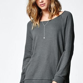 Nollie Raw Edge Crew Neck Sweatshirt - Womens Hoodie