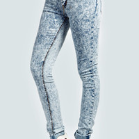 Leila Acid Wash Skinny Denim Jeans
