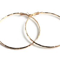 """Skinny Minnie"" Gold Hoop Earrings"