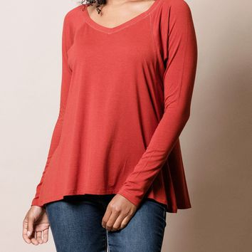 Bamboo Long Sleeve Swing Top
