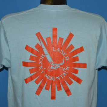 80s Rocky Mountain Laser Sail Boat t-shirt Large