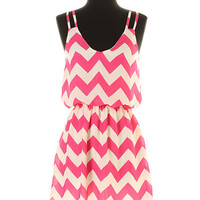 Pink Chevron Dress