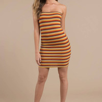 Scarlet Striped Bodycon Dress