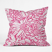 Lisa Argyropoulos Daisy Daisy In Bold Pink Throw Pillow