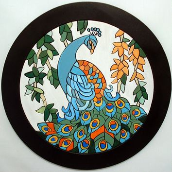 Wood Sculpture Peacock, This Bird is a Wall Hanging, Great for Home Decor, Wall Decor. Wall Art is Wooden Art made for Wood Wall Art.