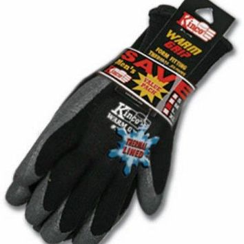 Kinco 1790-3PK-L Men's Cold Weather Latex Coated Knit Glove, Large, 3 Pair Pack