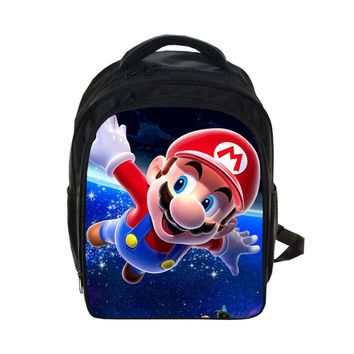 Super Mario party nes switch 2018 New game  prints Backpack Students School Bag For Girls Boys Rucksack mochila Private customize AT_80_8